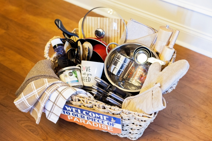 Tips on how to create a housewarmingwedding gift basket the perfect gift basket to give as a wedding gift or as a housewarming gift what would you add to yours negle Gallery